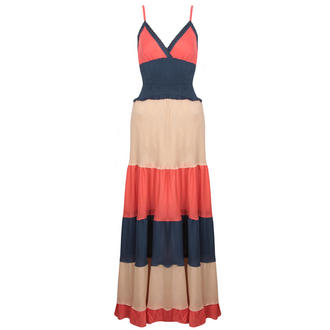 View Item Colour Block Maxi Dress